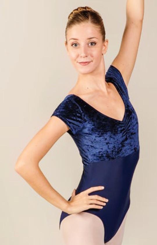 画像1: 新入荷 Ballet  Rosa,バレエローザ VINICE ベロアレオタード (1)