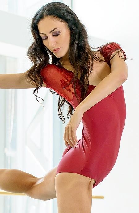 画像1: 新入荷 Ballet Rosa,バレエローザ JUSTINE レオタード (1)