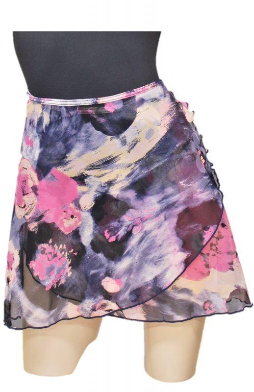 画像1: 限定商品 ペイントフラワーメッシュ巻スカート (1)
