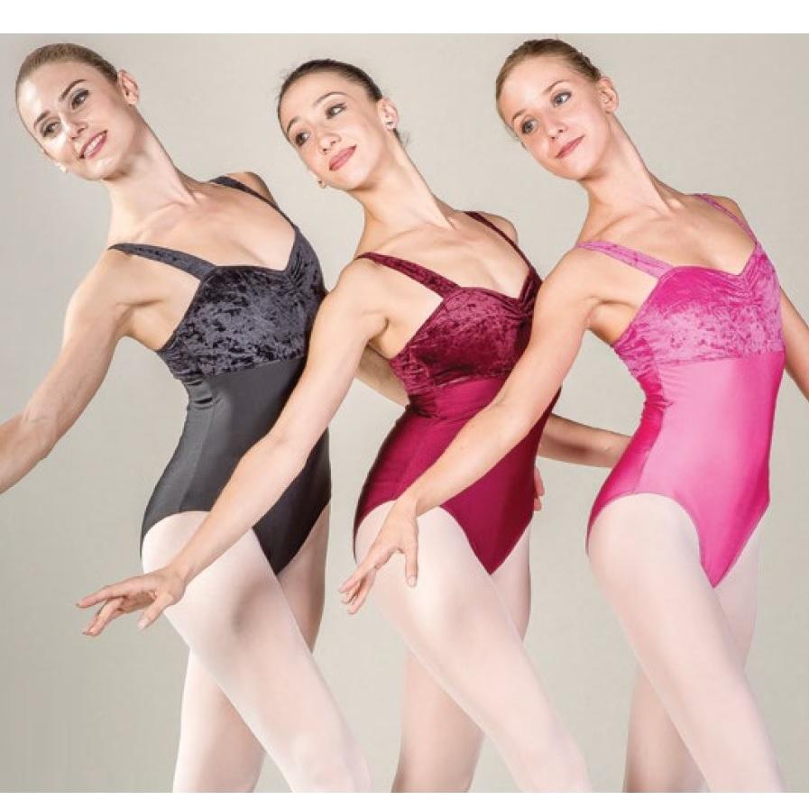 画像1: Ballet  Rosa,バレエローザ HELENE ベロアレオタード (1)